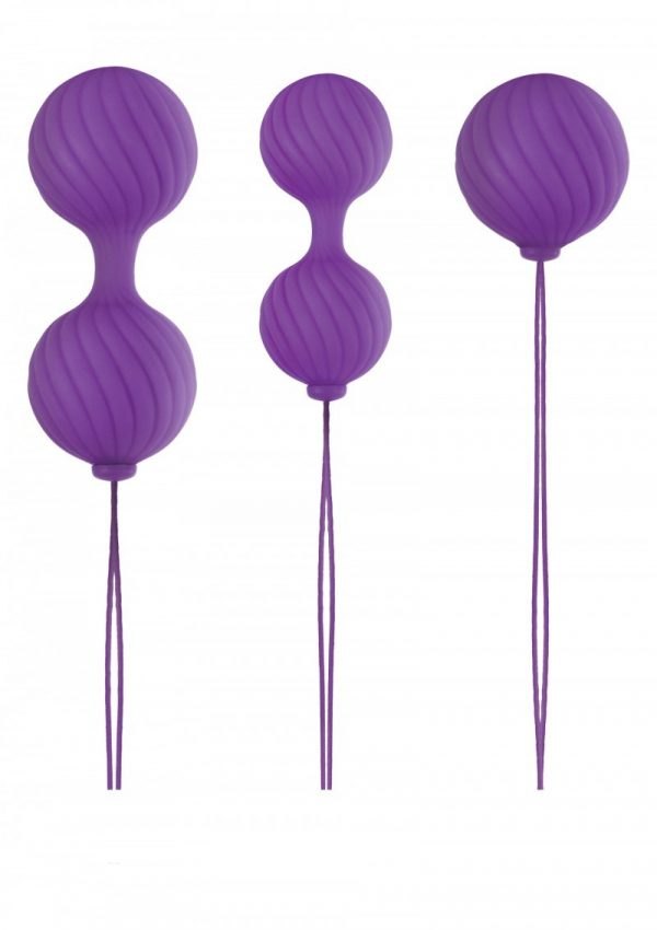 Luxe O Weighted Kegel Balls Lila