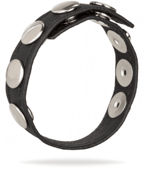 Leather Multi-Snap Cock Ring